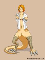 COM : Female Lizard Scientist part 2 by whiteguardian