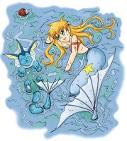 misty and vaporeon by ButterLux