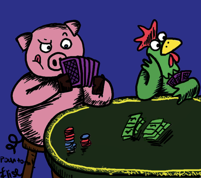 Poker's pig by V0icEs0fSpring