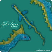 Lesser Water Dragon - Details by JuliaGraceArts