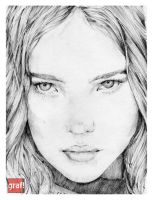 Natalia Vodianova by grafnarq
