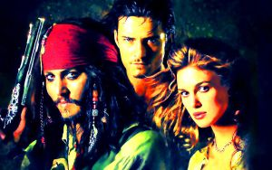 Pirates of the Caribbean - Painting by BlackLeatherAgiel