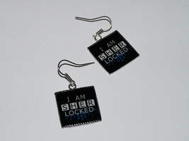 I AM SHERLOCKED earrings by Pia-CZ