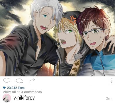 Yuri on Ice (Yuri, Victor and Yurio) - Fanart by Fhilippe124