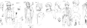 Ao no Exorcist.sketches by Pastenaga