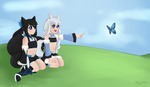 :CE: Kuromi and Shiromi_Chilling by Melissa-B-chan