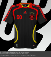 Germany Football Home Jersey by Qugeist