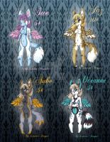 .:Winged Canine Girls Adopts:. by lfraysse