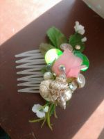 Rosebud and Sea Shell Comb by TheRealLittleMermaid