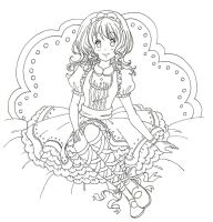 Sweet Lolita Doll Line Art by MunMunChan