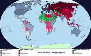 World Map (2053) - The sides of WWIII by AnalyticalEngine