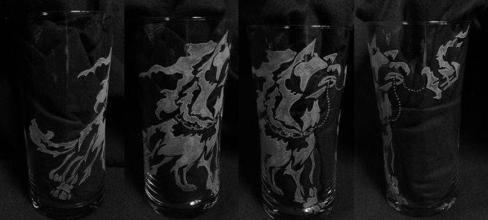 tribal wolf engraving by Legendendrache