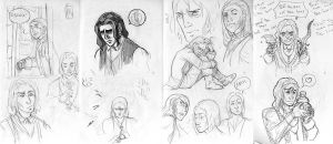 SPOILER - Amnesia sketches by KuroSy