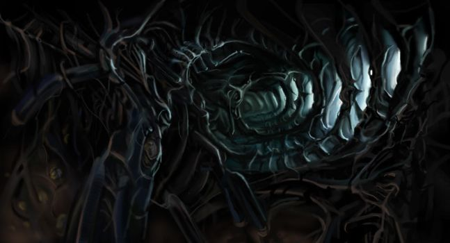 tribute to HR Giger by Audic