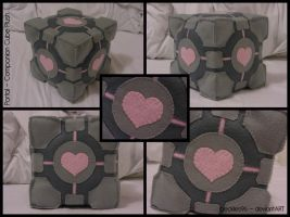 Portal: Companion Cube Plush by StitchedAlchemy
