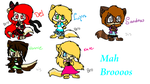 Mah Bros and sisters^^ by J0LIA