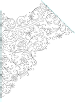 Handkerchief Embroidery Pattern Lineart by Kithplana