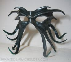 Cthulhu leather mask, green by shmeeden