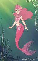Pink Mermaid Princess by LadyIlona1984