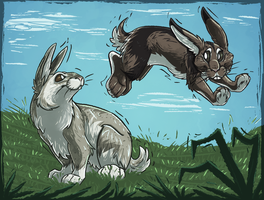Bunnies Be Jumpin' by Abberati