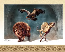 Condor and Dogs by TamasGaspar