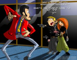 Kim meets Lupin the 3rd by Lionheartcartoon