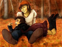 Bibi and Nash - Fall Color by Fidjie