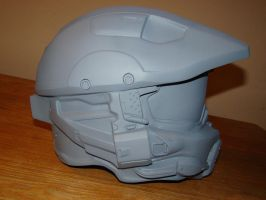Halo 4 Maser Chief helmet lifesize by Hyperballistik