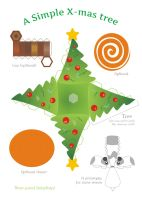 xmas tree papercraft by Kna