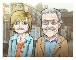 Bill Webster and Auntie Pam Dobbs by pickledjo