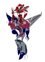 .:Knockout and Starscream:. by JACKSPICERCHASE