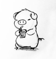 Piggy with soda by FancyFerret