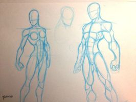 Quick Figure Sketches by stourangeau