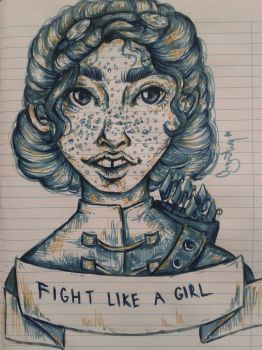 Fight like a girl by AlexandraAugustin
