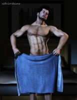 Blue Towel by sithlordsims