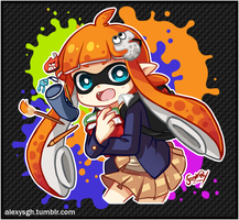 Splatoon - Student Inkling by SandraGH