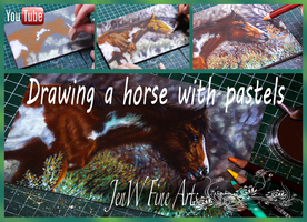 Horse in pastels tutorial by mangakasan