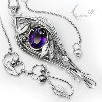 GHZARIALL - Silver and Amethyst. by LUNARIEEN