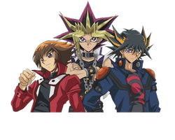 Yu-Gi-Oh Judai, Yami Yugi, and Yusei Render by NyaEditer