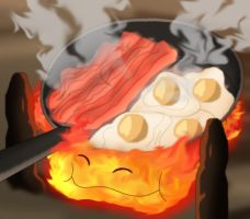 Calcifer Noms by MegBeth