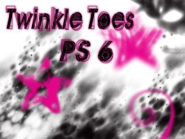 TwInKLe ToEs PS6 brushes by stripedstockins