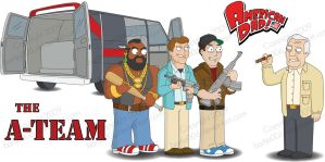 A-Team American Dad Style by bartje006