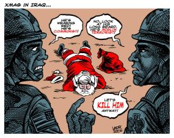 Xmas in Iraq by Latuff2