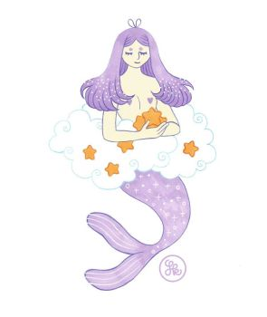 Dreaming mermaid by middlehouse