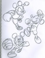 Mickey in action by ketz