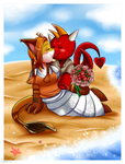 Beach Wedding by Sweetochii