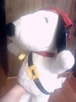 Peanuts Giant Pirate Snoopy Plushie 3 by DalmatiansHuskies