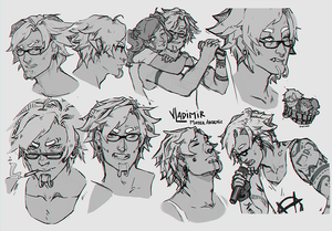 Sketches faces by MaterArsenic