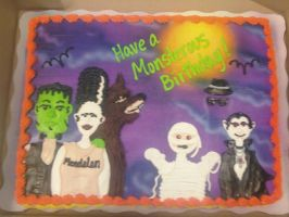 Monstrous Group Cake by AingelCakes