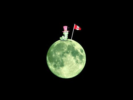 Canadian worm on the moon by ladylili